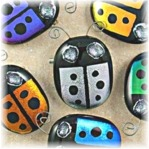 Ladybug Pin Pendant - ON SALE